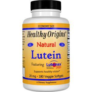 Healthy Origins, Лютеин, натуральный, 20 мг