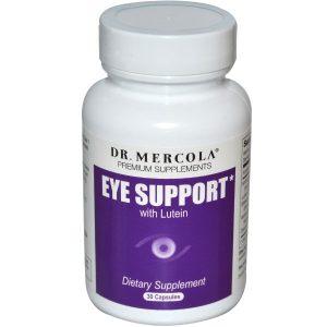 Dr. Mercola, Премиум добавки, лютеин для поддержки глаз, 30 капсул