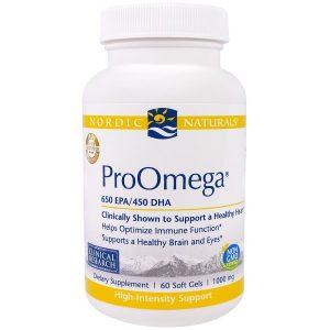 "Nordic Naturals Professional, ""ПроОмега"", пищевая добавка с омега-3, 1000 мг, 60 мягких желатиновых капсул с жидкостью"