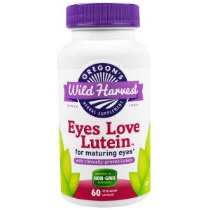 Oregon's Wild Harvest, Глаза любят лютеин, 60 вегетарианских капсул
